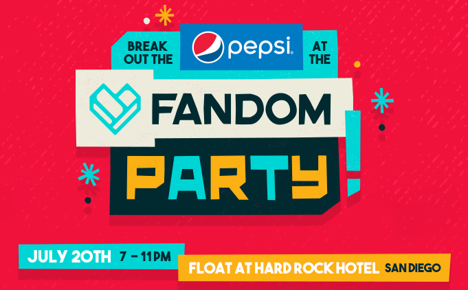 Fandom fest petco interactive zone and party outside comic con the event is open by invitation only but 350 lucky fans who sign up will get to join in on the fun rsvp now closed stopboris Choice Image